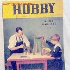 Coleccionismo de Revistas y Periódicos: HOBBY REVISTA ARGENTINA Nº 214 JUNIO 1954. Lote 1290777