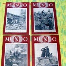 Coleccionismo de Revistas y Periódicos: LOTE 29 REVISTAS-SEMANALES '' MUNDO '', BIEN CONSERVADAS. Lote 1421435