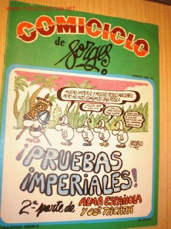 REVISTA -COMICICLO- DE FORGES Nº 18 AÑO 1974. (Coleccionismo - Revistas y Periódicos Modernos (a partir de 1.940) - Otros)