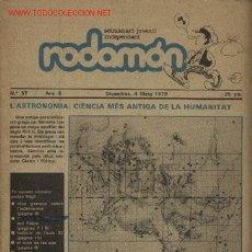 Coleccionismo de Revistas y Periódicos: REVISTA JUVENIL RODAMON. Lote 23341665