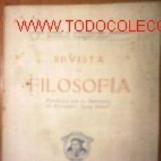 Coleccionismo de Revistas y Periódicos: REVISTA DE FILOSOFIA.1945.INST. FILOSOFIA LUIS VIVES. Lote 2498270