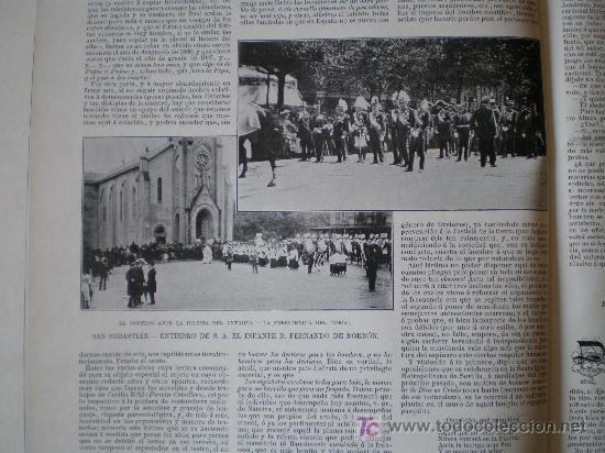 Coleccionismo de Revistas y Periódicos: SAN SEBASTIAN-ENTIERRO DE S.A. EL INFANTE D. FERNANDO DE BORBON Y BORBON - Foto 3 - 145821124