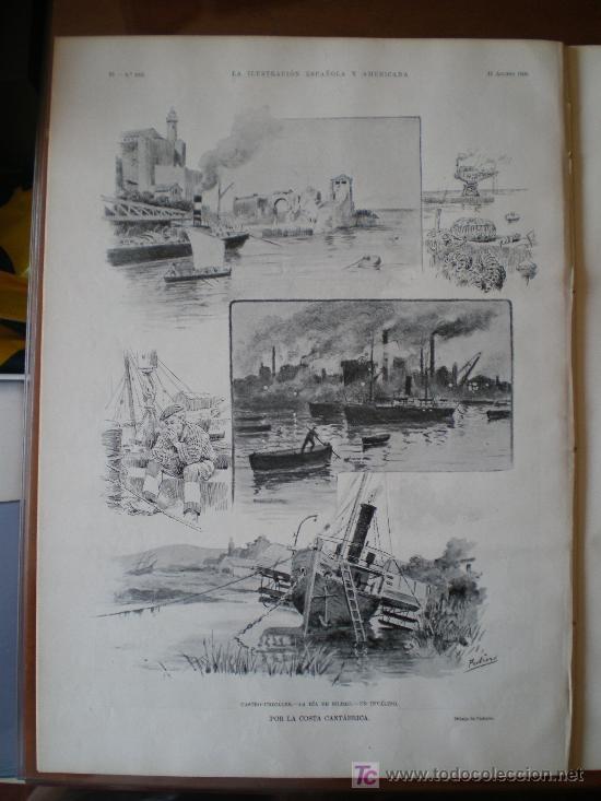Coleccionismo de Revistas y Periódicos: POR LA COSTA CANTABRICA: CASTRO-URDIALES, LA RIA DE BILBAO Y, UN INVALIDO - Foto 5 - 145821124