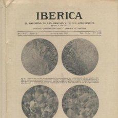Coleccionismo de Revistas y Periódicos: REVISTA IBERICA 1094 1935 CRISTALES LIQUIDOS ABASTECIMIENTO DE AGUAS DE BARCELONA MORATO CERCAVINS. Lote 13224422
