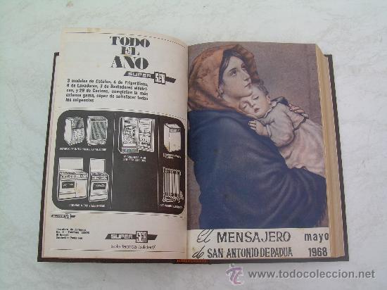 EL MENSAJERO DE SAN ANTONIO DE PADUA - AÑOS 1968 Y 1969 COMPLETOS - EN UN TOMO ENCUADERNADO EN TELA (Coleccionismo - Revistas y Periódicos Antiguos (hasta 1.939))