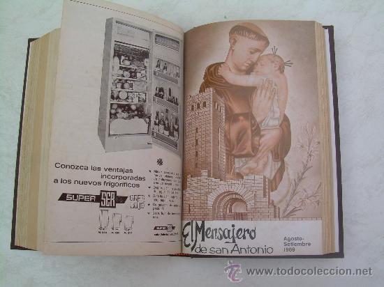 Coleccionismo de Revistas y Periódicos: EL MENSAJERO DE SAN ANTONIO DE PADUA - AÑOS 1968 Y 1969 COMPLETOS - EN UN TOMO ENCUADERNADO EN TELA - Foto 3 - 26892228