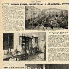 Coleccionismo de Revistas y Periódicos: TORRELAVEGA 1915 INDUSTRIAS Y COMERCIOS 2 HOJAS REVISTA. Lote 9893200