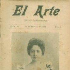 Coleccionismo de Revistas y Periódicos: EL ARTE REVISTA HEBDOMADARIA NUM 10 MARZO 1899 - PORTADA MLLE. MANUEL - MARINA FRANCESA. Lote 10089129