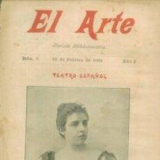 Coleccionismo de Revistas y Periódicos: EL ARTE REVISTA HEBDOMADARIA NUM 8 FEBRERO 1899 - PORTADA TEATRO ESPAÑOL NIEVES SUAREZ. Lote 10089345
