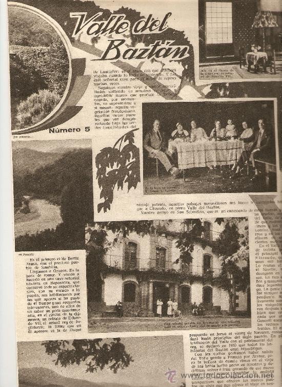 AÑO 1933 MARIPOSAS VALLE DEL BAZTAN NAVARRA ESCUELA ENFERMERIA PERLAS ARTIFICIALES HALL TIROL (Coleccionismo - Revistas y Periódicos Antiguos (hasta 1.939))