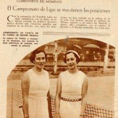 Coleccionismo de Revistas y Periódicos: TENIS 1933 BILBAO RETAL REVISTA. Lote 10160953