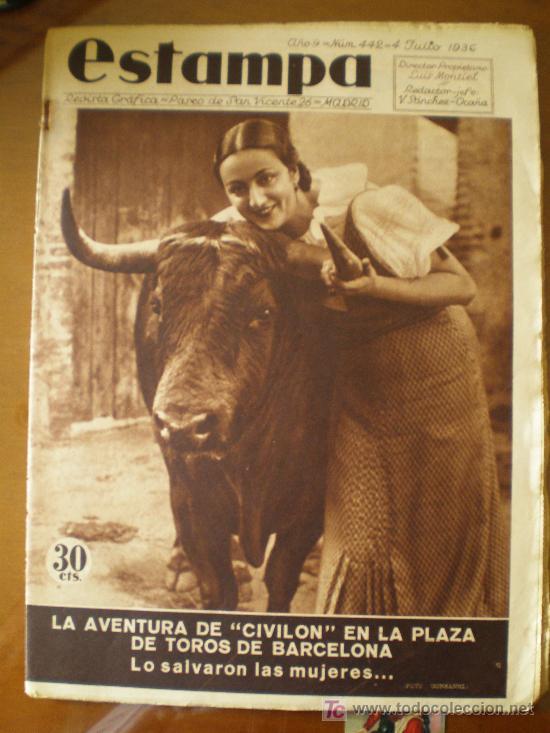 estampa n berga barcelona toros real madrid sitges valencia urgull maria guerrero