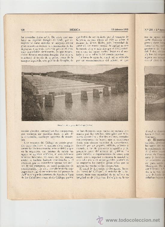 AÑO1953 ENASA CAMIONES ZARAGOZA HUESCA PANTANO DE ARDISA LA SOTONERA CANAL DE VIOLADA CANAL MONEGROS (Coleccionismo - Revistas y Periódicos Modernos (a partir de 1.940) - Otros)