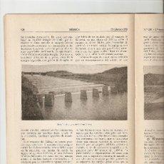Coleccionismo de Revistas y Periódicos: REVISTA IBERICA 251.AÑO1953.ZARAGOZA.HUESCA.PANTANO DE ARDISA Y SOTONERA.CANAL DE VIOLADA.. Lote 10336596
