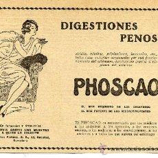 Coleccionismo de Revistas y Periódicos: PHOSCAO 1930 HOJA REVISTA. Lote 10371838