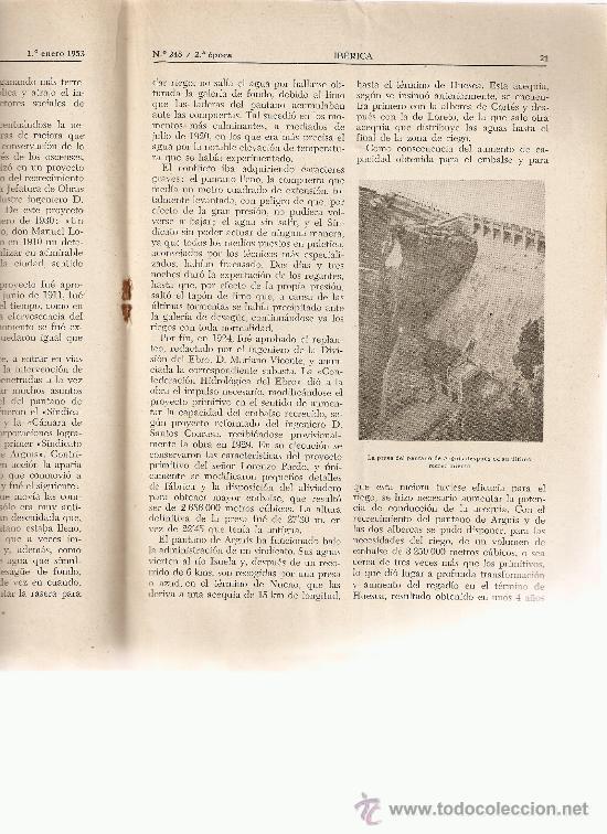 REVISTA IBERICA 248.AÑO 1953.EL PANTANO DE ARGUIS.ARGUIS. (Coleccionismo - Revistas y Periódicos Modernos (a partir de 1.940) - Otros)