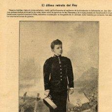 Coleccionismo de Revistas y Periódicos: ALFONSO XIII 1896 HOJA REVISTA. Lote 10421826
