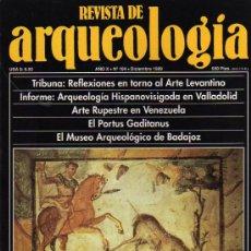 Coleccionismo de Revistas y Periódicos: REVISTA DE ARQUEOLOGIA Nº 104 DICIEMBRE 1989. Lote 10489406
