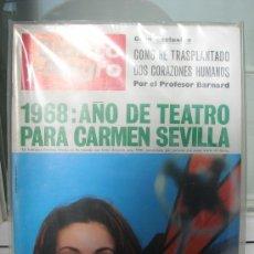 Coleccionismo de Revistas y Periódicos: REVISTA BLANCO Y NEGRO. CARMEN SEVILLA. CINE . EXCLUSIVA TRANSPLANTE CORAZON. Lote 10603208