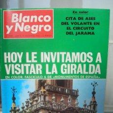 Coleccionismo de Revistas y Periódicos: REVISTA BLANCO Y NEGRO. NOVIEMBRE 1968. LA GIRALDA . CIRCUITO JARAMA.. Lote 10603513