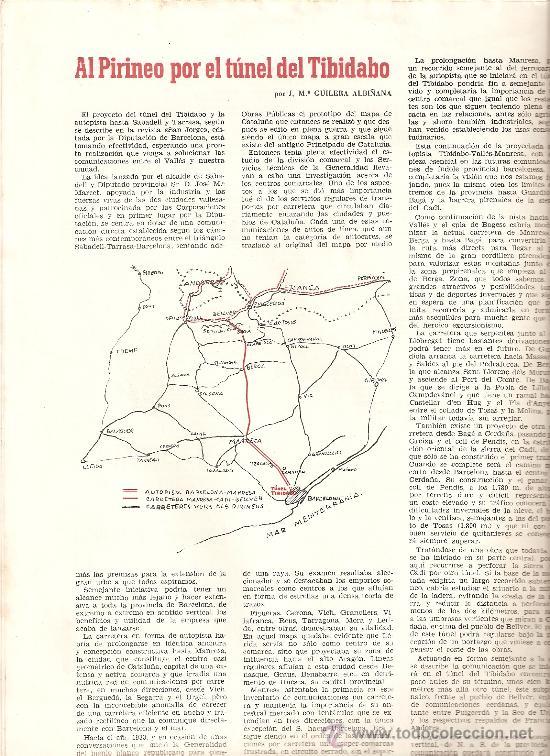 REVISTA BAGES 66 AÑO 1958 TUNEL DEL TIBIDABO PROYECTOS HIDROELECTRICOS MANRESA (Coleccionismo - Revistas y Periódicos Modernos (a partir de 1.940) - Otros)