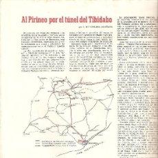 Coleccionismo de Revistas y Periódicos: REVISTA BAGES 66 AÑO 1958 TUNEL DEL TIBIDABO PROYECTOS HIDROELECTRICOS MANRESA. Lote 10620588