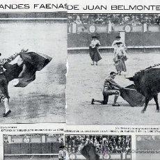 Coleccionismo de Revistas y Periódicos: TOROS 1915 BELMONTE 2 HOJAS REVISTA. Lote 10662945