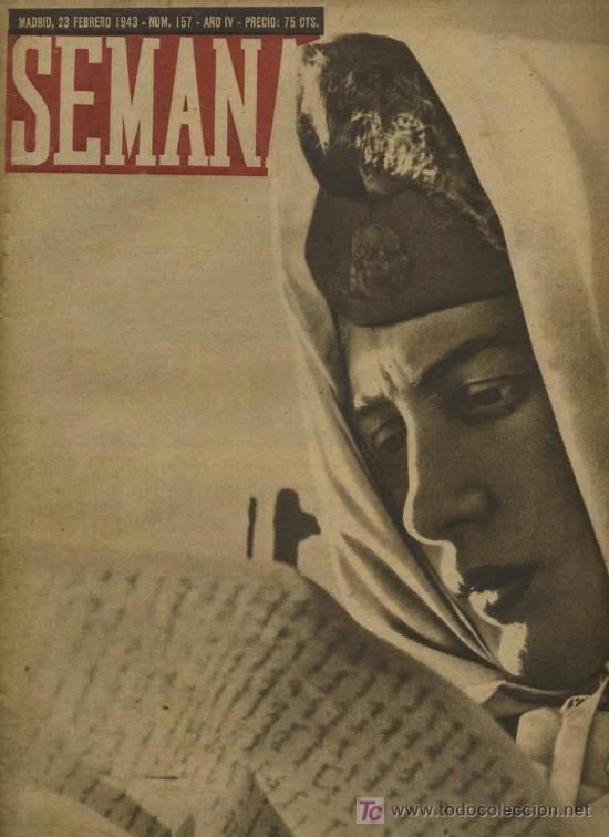 SEMANA NUM. 157 , 23 FEBRERO 1943 , GUERRA MUNDIAL RS10 (Coleccionismo - Revistas y Periódicos Modernos (a partir de 1.940) - Otros)