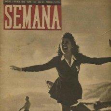Coleccionismo de Revistas y Periódicos: SEMANA NUM. 159 , 9 MARZO 1943 , GUERRA MUNDIAL RS12. Lote 10735365