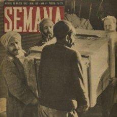 Coleccionismo de Revistas y Periódicos: SEMANA NUM. 160 , 16 MARZO 1943 , GUERRA MUNDIAL RS13. Lote 10735426
