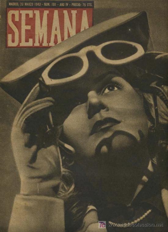 SEMANA NUM. 161 , 23 MARZO 1943 , GUERRA MUNDIAL RS14 (Coleccionismo - Revistas y Periódicos Modernos (a partir de 1.940) - Otros)