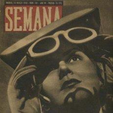 Coleccionismo de Revistas y Periódicos: SEMANA NUM. 161 , 23 MARZO 1943 , GUERRA MUNDIAL RS14. Lote 10735439