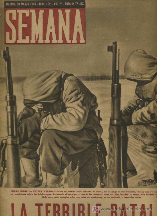 SEMANA NUM. 162 , 30 MARZO 1943 , GUERRA MUNDIAL RS15 (Coleccionismo - Revistas y Periódicos Modernos (a partir de 1.940) - Otros)