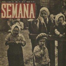Coleccionismo de Revistas y Periódicos: SEMANA NUM. 179 , 27 JULIO 1943 , GUERRA MUNDIAL RS19. Lote 22039709