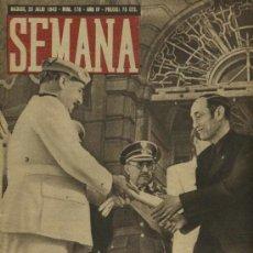 Coleccionismo de Revistas y Periódicos: SEMANA NUM. 178 , 20 JULIO 1943 , GUERRA MUNDIAL RS20. Lote 10735550