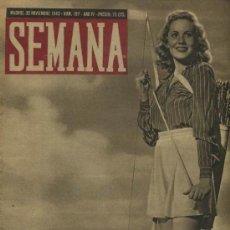 Coleccionismo de Revistas y Periódicos: SEMANA NUM. 197 , 30 NOVIEMBRE 1943 , GUERRA MUNDIAL RS22. Lote 22039713