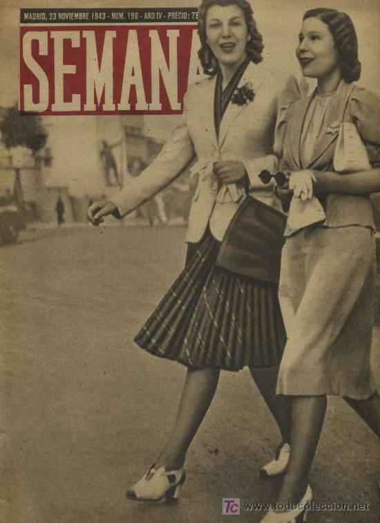 SEMANA NUM. 196 , 23 NOVIEMBRE 1943 , GUERRA MUNDIAL RS23 (Coleccionismo - Revistas y Periódicos Modernos (a partir de 1.940) - Otros)