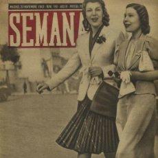 Coleccionismo de Revistas y Periódicos: SEMANA NUM. 196 , 23 NOVIEMBRE 1943 , GUERRA MUNDIAL RS23. Lote 20278032