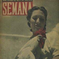 Coleccionismo de Revistas y Periódicos: SEMANA NUM. 28 , 3 SEPTIEMBRE 1940 , GUERRA MUNDIAL RS69. Lote 18967843