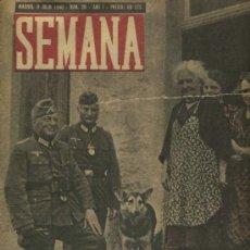 Coleccionismo de Revistas y Periódicos: SEMANA NUM. 20 , 9 JULIO 1940 , GUERRA MUNDIAL RS71. Lote 27633927
