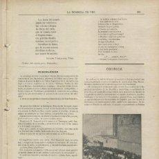 Coleccionismo de Revistas y Periódicos: REVISTA RELIGIOSA. AÑO 1901. BARCELONA.EL CAPITAN GENERAL EN PEDRALBES.SOMATEN . MONASTERIO. . Lote 25704985
