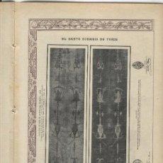 Coleccionismo de Revistas y Periódicos: REVISTA LA HORMIGA DE ORO. AÑO 1903. SEMANA SANTA. EL SANTO SUDARIO DE TURIN. . Lote 25579735