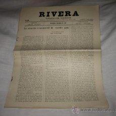 Coleccionismo de Revistas y Periódicos: RIVERA PUBLICACION PERIODICA MONTEVIDEO NOVIEMBRE DE 1927 .-Nº 206. Lote 11679797