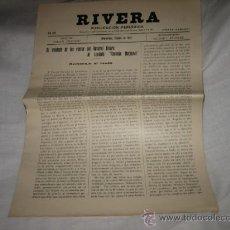 Coleccionismo de Revistas y Periódicos: RIVERA PUBLICACION PERIODICA MONTEVIDEO OCTUBRE DE 1927 .-Nº 205. Lote 11679800