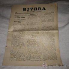 Coleccionismo de Revistas y Periódicos: RIVERA PUBLICACION PERIODICA MONTEVIDEO AGOSTO DE 1927 .-Nº 203. Lote 11679802