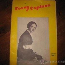 Coleccionismo de Revistas y Periódicos: ROSAS Y ESPINAS MAYO 1933. Lote 10875875