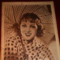 Coleccionismo de Revistas y Periódicos: CRÓNICA - 2 JUNIO 1935 - GRACE BRADLEY, IGNACIO ARA CREE PODER DERROTAR AL CAMPEÓN MARCEL THIL ...... Lote 10962119