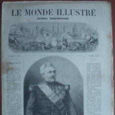 Coleccionismo de Revistas y Periódicos: LE MONDE ILLUSTRE 15/06/1872 (GUERRA CARLISTA OÑATE BILBAO EUGENIO OCHOA ULIBARRI LA INTERNACIONAL). Lote 24531020