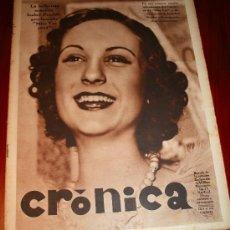 Coleccionismo de Revistas y Periódicos: CRÓNICA - 10 MARZO 1935 - ISABEL PRADAS MISS VOZ 1935, IMPERIO ARGENTINA CUENTA SUS RECUERDOS,...... Lote 11089358