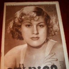 Coleccionismo de Revistas y Periódicos: CRÓNICA - 24 MARZO 1935 - EVA ARIÓN, LAS CORRIDAS DE TOROS FALLERAS DE VALENCIA, ........ Lote 11089422